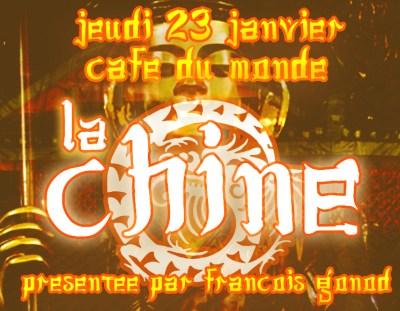 Café des Lumières – jeudi 23 janvier 2020 – « La Chine »