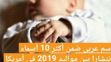 Photo of دخل اسم عربي قائمة الأسماء الأكثر انتشارا وتداولا بين المواليد الذكور لسنة 2019 في الولايات المتحدة الأمريكية: