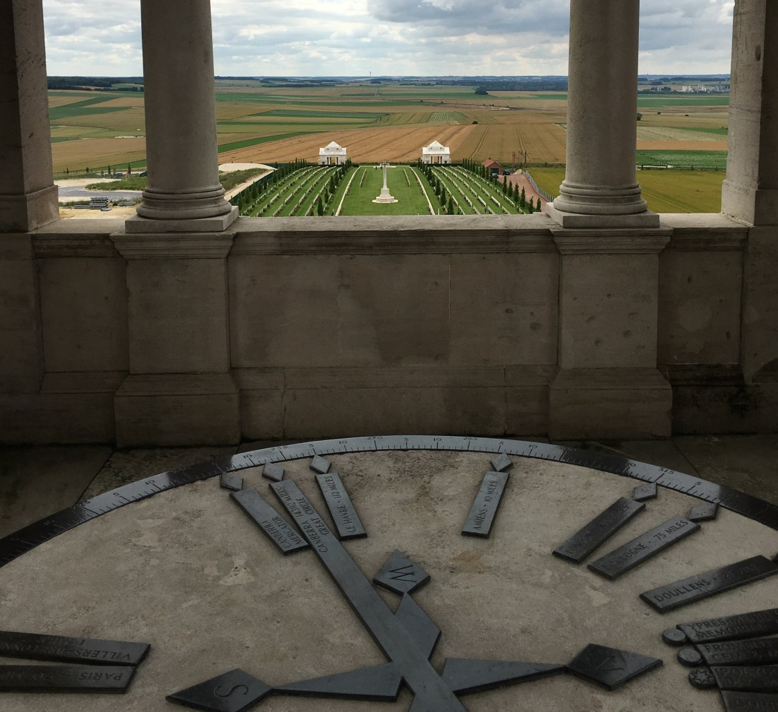 From the tower you get a sense of the scale of the battle fields. It was moving to see the bugler play here on Anzac Day