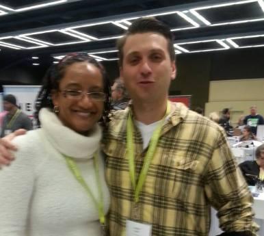 Editor M.J. Fievre with Sliver of Stone contributor Joseph Lapin