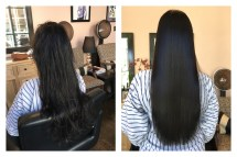 keratin treatment before and after