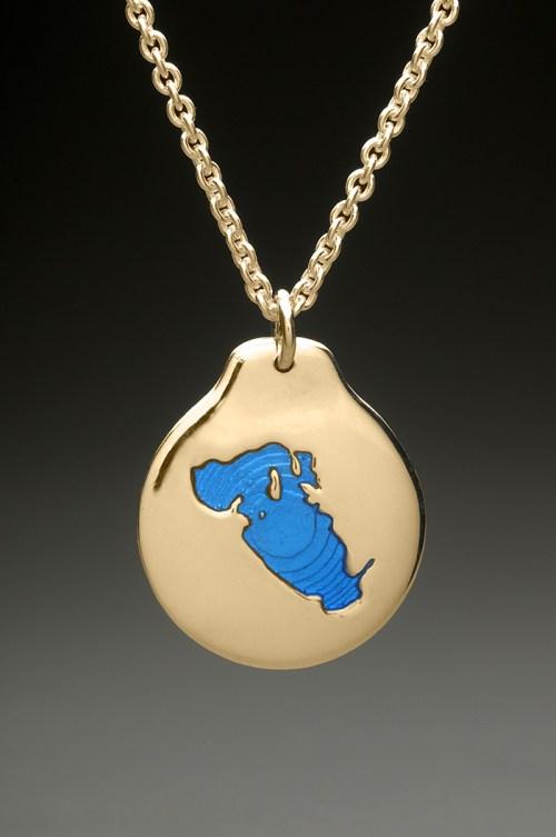 lake waukewan pendant gold