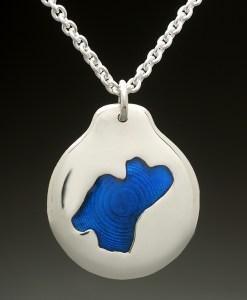 mj harrington jewelers nh rockybound pond croydon custom necklace pendant silver