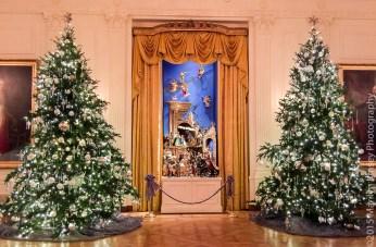Nativity scene in the East Room