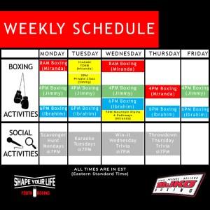 MJKO November schedule