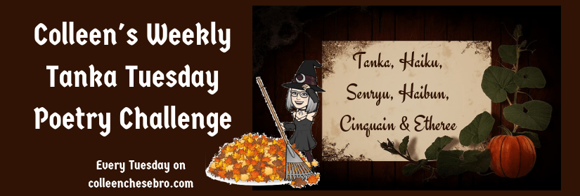 "Colleen's Weekly #Tanka Tuesday #Poetry Challenge No. 107, ""Haunt & Spell,"" #SynonymsOnly"