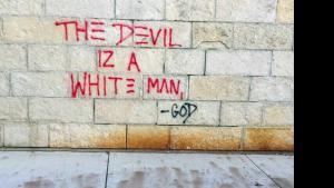 UW Madison Police Graffiti