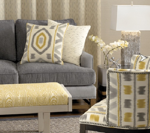 Fall Color Trend  Yellow and Gray Interiors photo via Pinterest