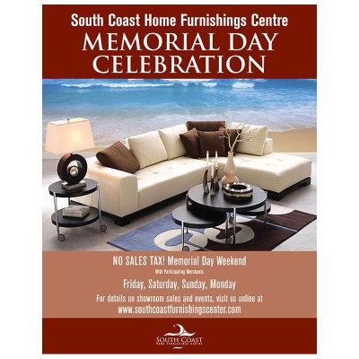 Ad | South Coast Home Furnishings Memorial Day