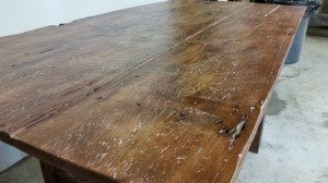 Barn Door Dining Table with Chestnut Finish