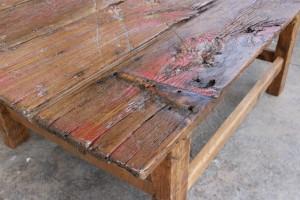 Barn door coffee table