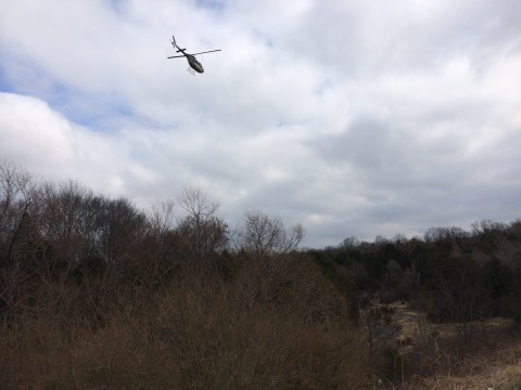 THP Helicopter Searching Area