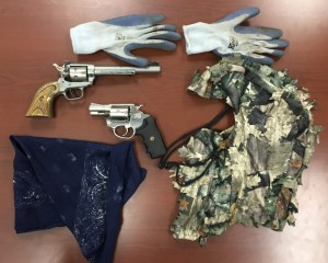 Items Recovered in Suspect Vehicle