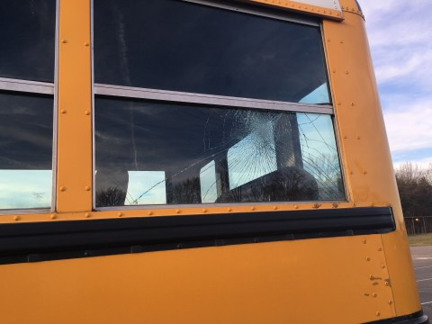 Damage to Window by Bus Aide
