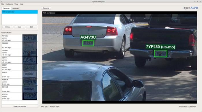 Rekor OpenALPR Interface on Computer Screen