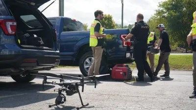 City Drone Team about to Launch Drone