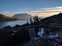 Dinner from our Airbnb in Queenstown