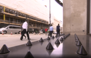 Anti-homeless spikes