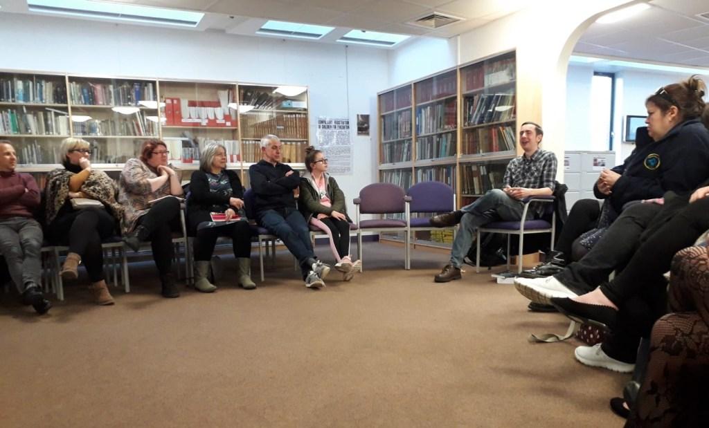 M.J. Ryder author talk at Margate Library, April 2019