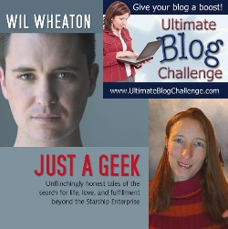 Wil Wheaton Meets Ultimate Blog Challenge