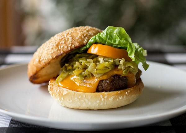 The quintessential Green Chile Cheeseburger | mjskitchen.com