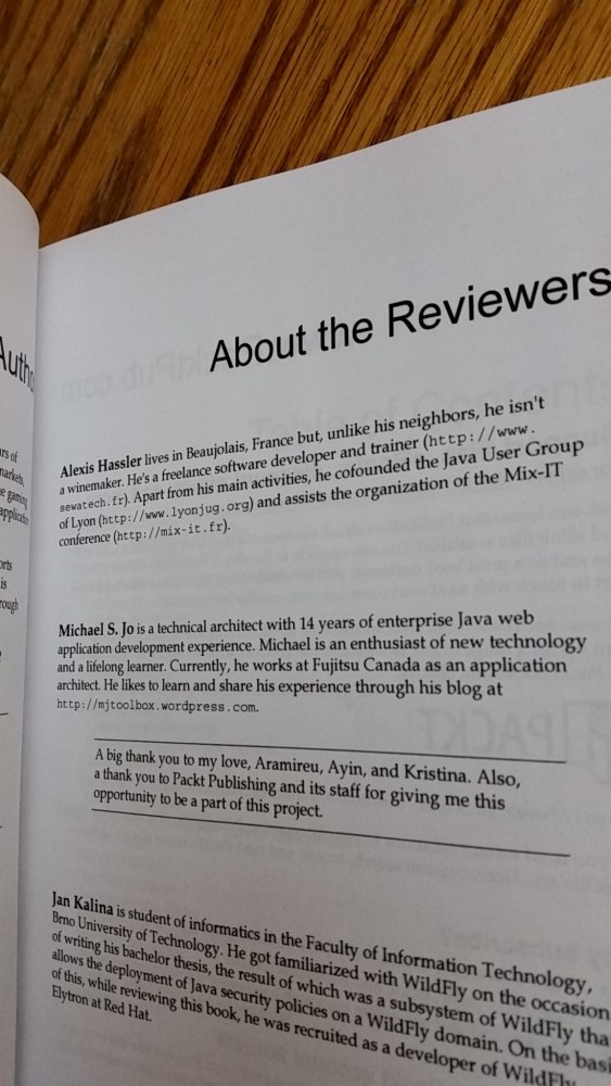 Technical Book Reviewer Experience (2/2)