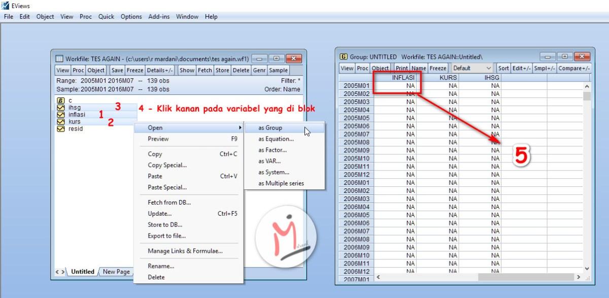 Regresi Menggunakan Eviews Pada Data Time Series M Jurnal