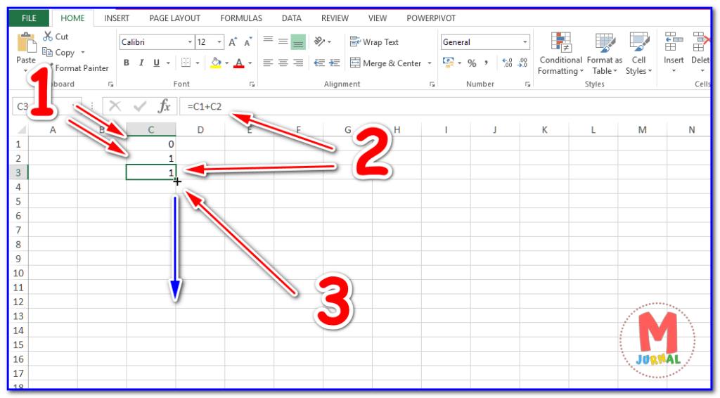 Cara membuat autofill deret hitung di Excel
