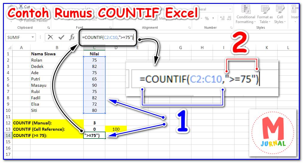Cara menggunakan Rumus COUNTIF untuk menghitung data berdasarkan kriteria - Uji logika