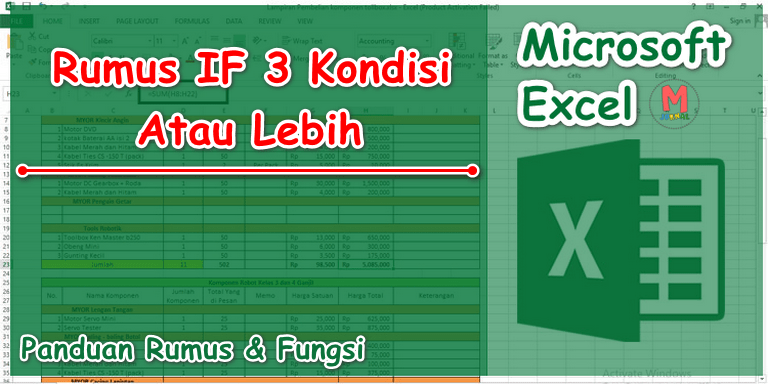 Rumus IF pada Excel untuk 3 Kondisi, 4 / 5 / Lebih.