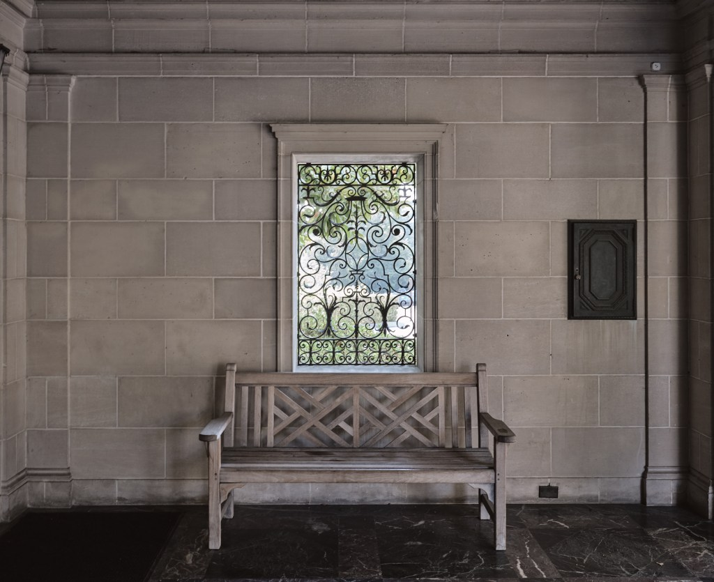 Bench Greystone Mansion