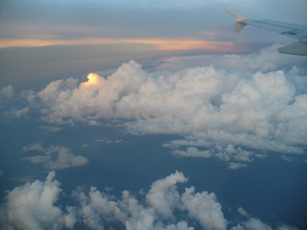 Beautiful clouds on our flight