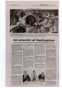 Als Experte des Bundesverbandes Deutscher Banken beim Telefonforum der Lausitzer Rundschau am 17.09.2008 - Teil 2