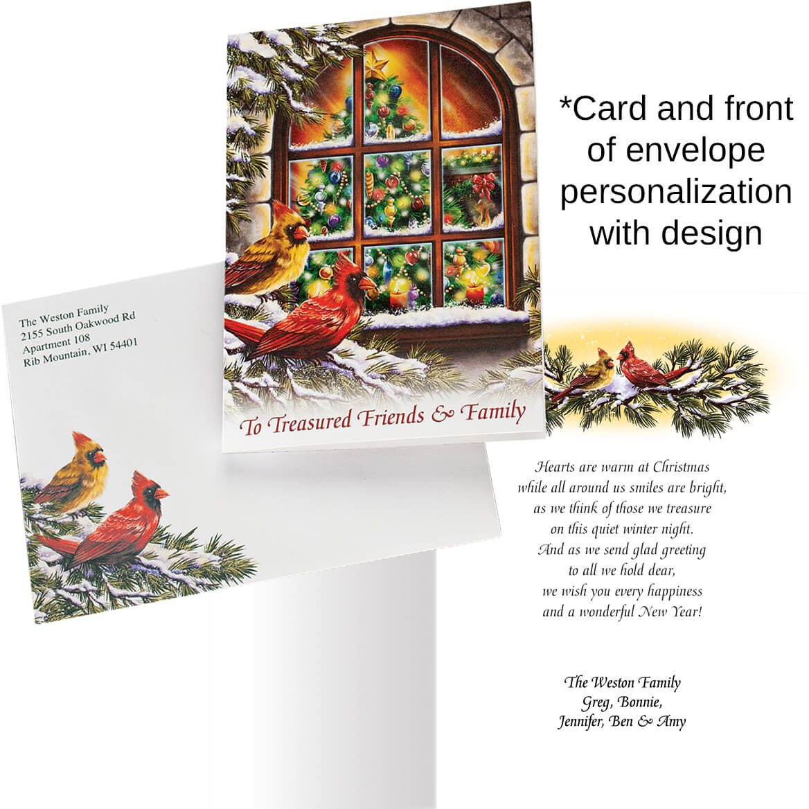 Treasured Friends Personalized Christmas Cards Miles