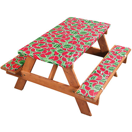 deluxe picnic table cover w cushions by hsk watermelon