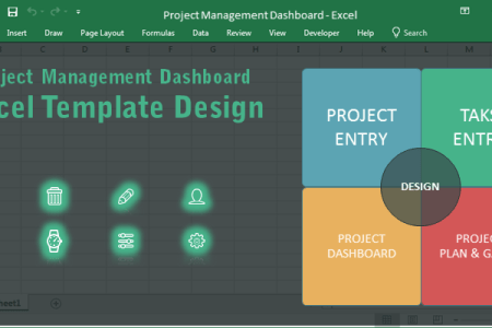 Project Management Dashboard Excel Template   Free Download Project Management Dashboard Excel Template Design