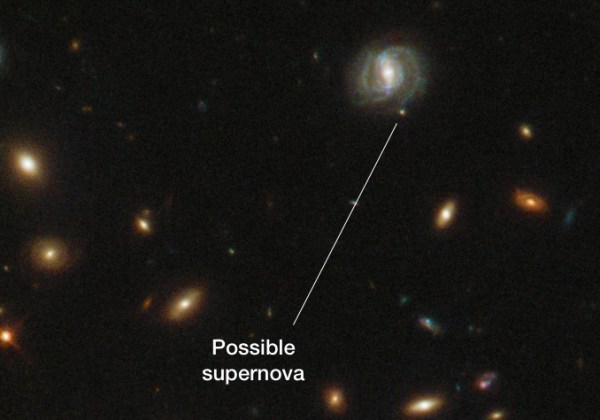 Hubble spots possible third supernova exploding in remote ...