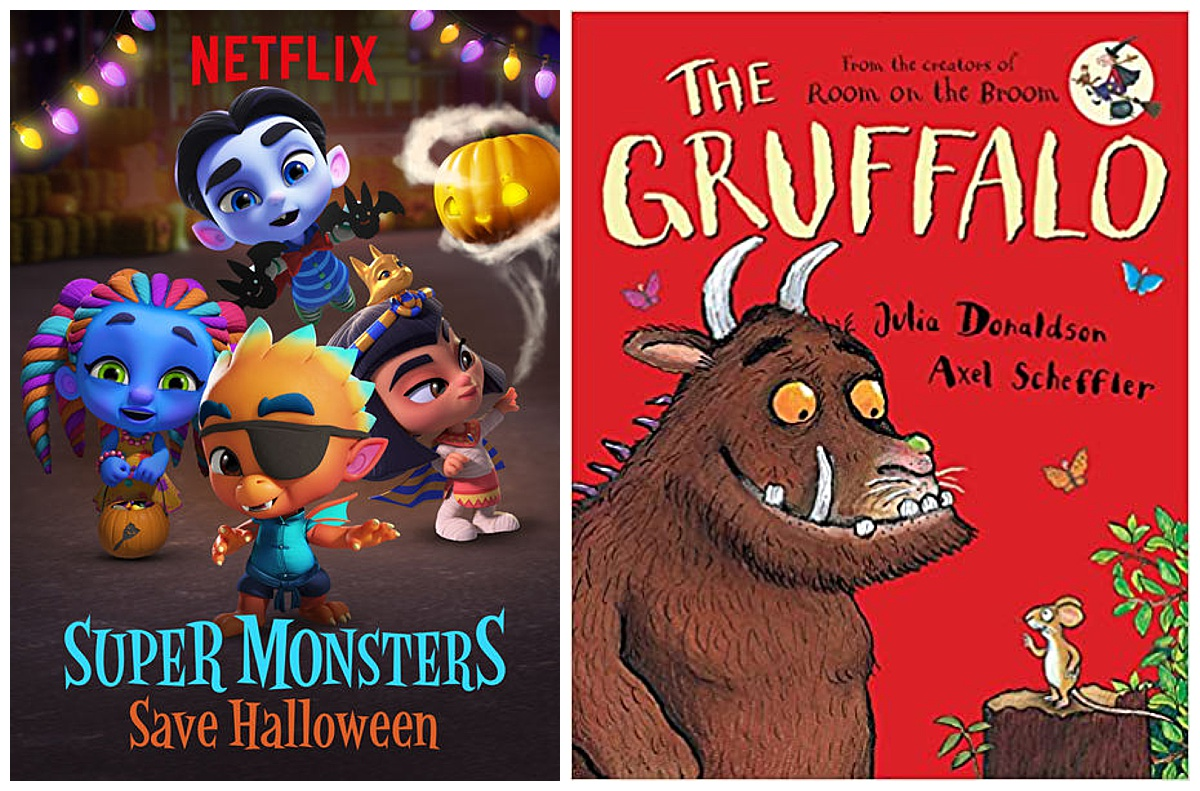 Super Monsters Save Halloween movie and The Gruffalo book