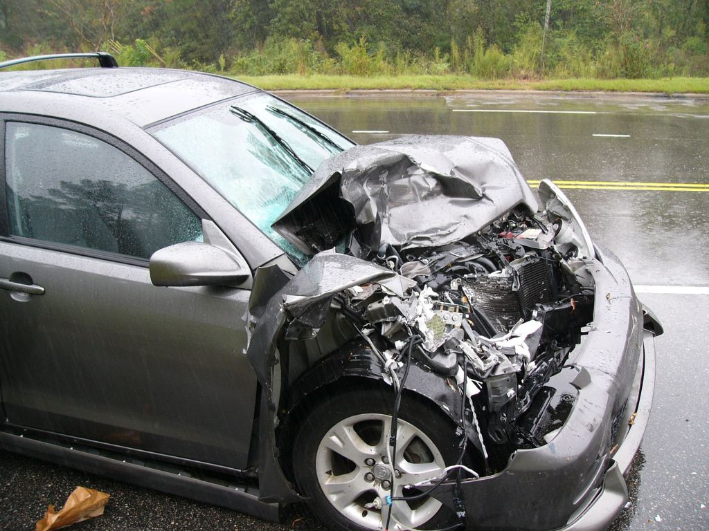 Picture of a car after an accident