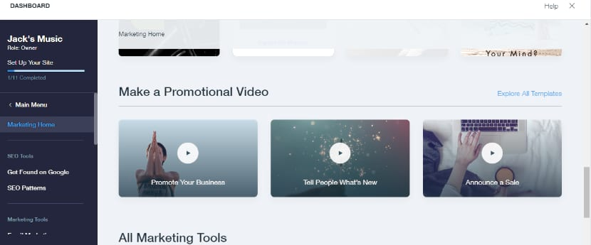 Wix video maker for your music promotion