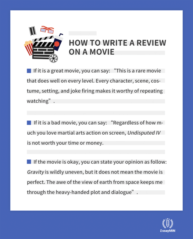 How to Write a Movie Review? The Complete Guide - EssayMin