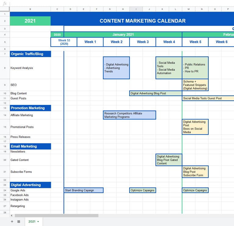 Having a hard time keeping up with your crazy schedule? Marketing Calendar The Definitive Guide Templates 2021