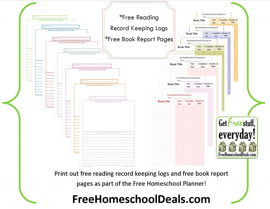 Free Reading Logs Amp Book Report Pages Free Homeschool