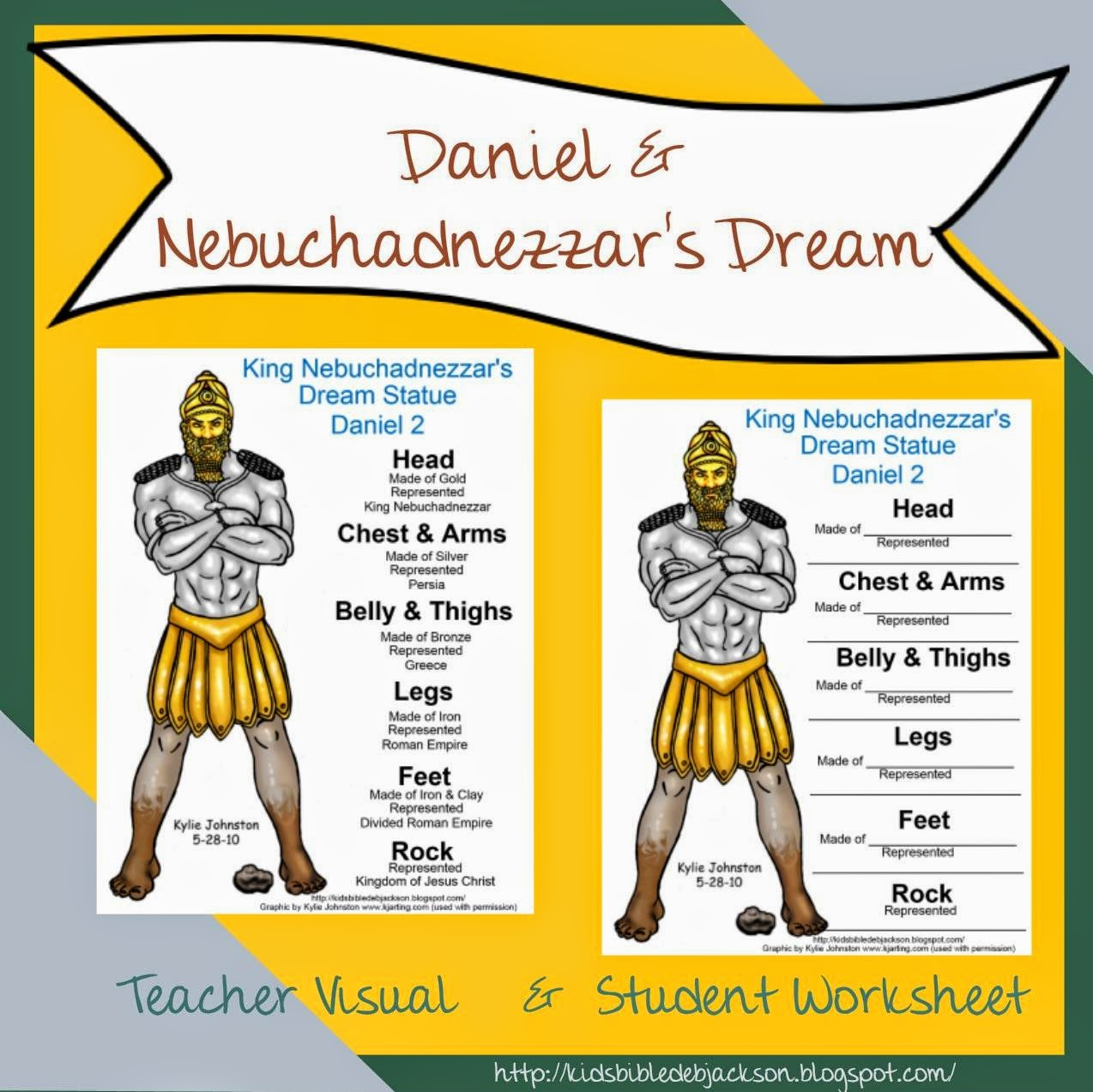Bible Lesson And Free Printable Daniel Amp Nebuchadnezzar S Dream