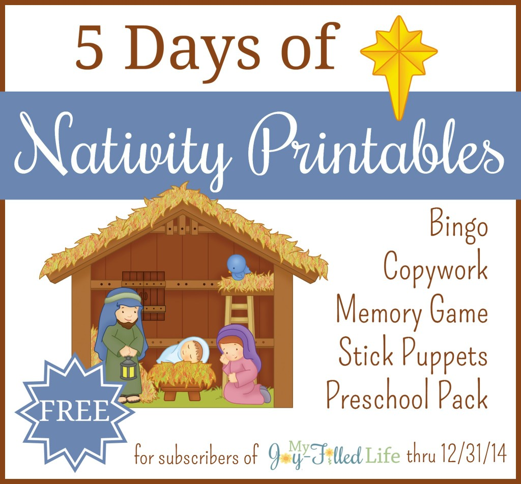 Free Nativity Printables Subscriber Freebie