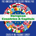 Free European Countries And Capitals Pack Instant Download