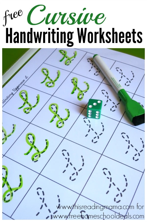 Free Cursive Handwriting Worksheets Instant Download