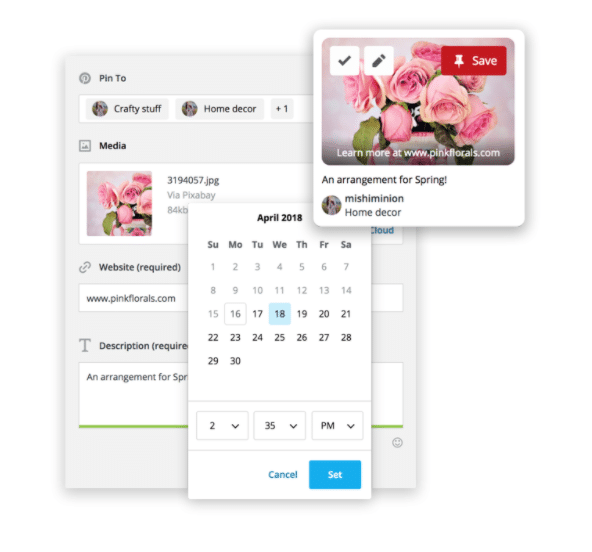 Schedule Pins with Hootsuite