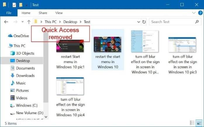 remove quick access from Windows 10 navigation pane pic2