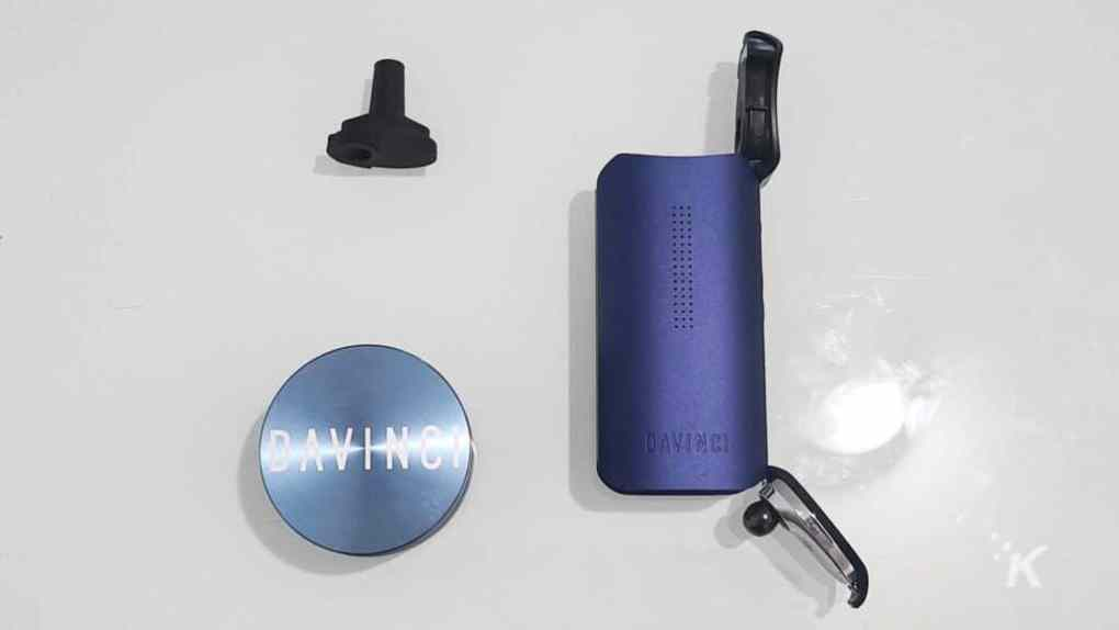 vaporizer on table with mouthpiece